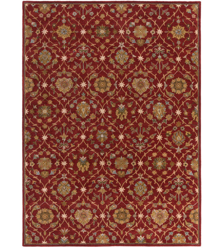Surya AWMD2113-811 Middleton 132 X 96 inch Dark Red Indoor Area Rug, Rectangle photo