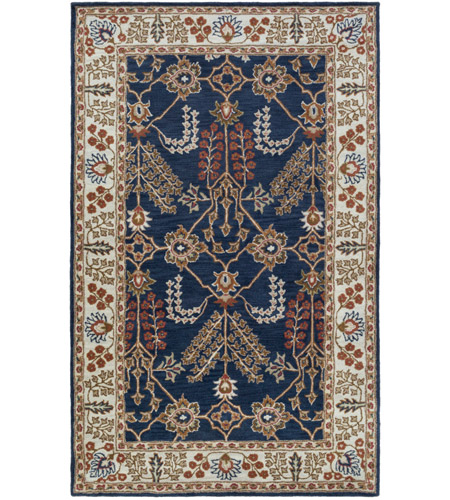 Surya AWMD2241-913 Middleton 156 X 108 inch Navy/Ivory/Camel/Dark Brown/Garnet Rugs, Rectangle photo