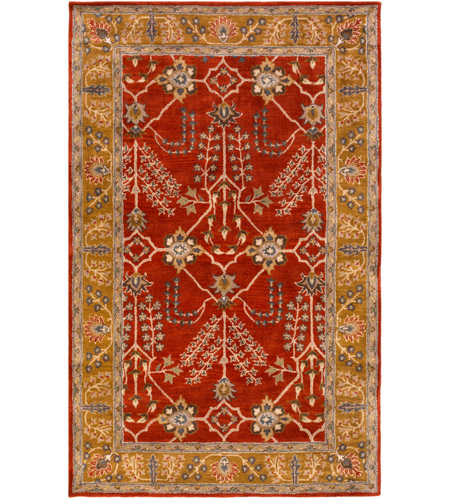 Surya AWMD2244-46 Middleton 72 X 48 inch Rust Indoor Area Rug, Rectangle photo