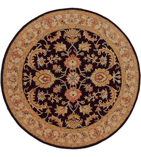 Surya AWOC2000-8RD Middleton 96 X 96 inch Black Indoor Area Rug, Round photo