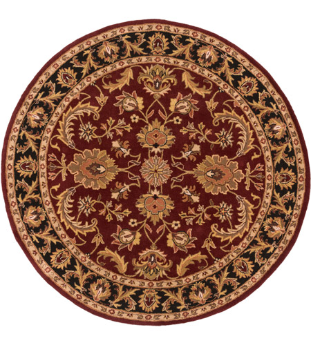 Surya AWOC2001-6RD Middleton 72 X 72 inch Dark Brown/Mustard/Black/Clay Rugs, Round photo