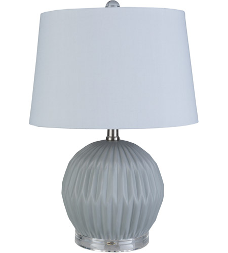 Surya Light Gray Crystal Table Lamps