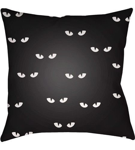 Surya Boo153 2020 Boo 20 X 20 Inch Black And White Outdoor