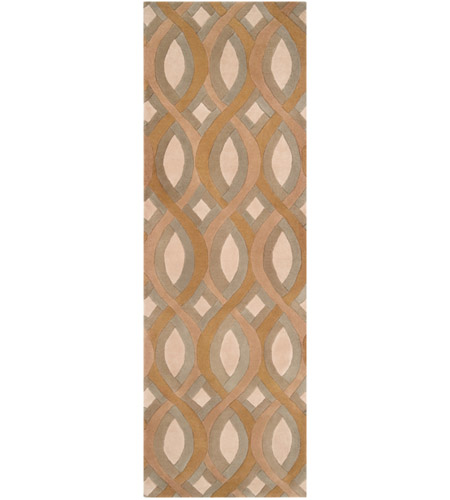 Surya CAN1901-268 Modern Classics 96 X 30 inch Brown and Neutral Runner, Wool photo