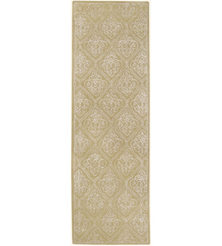 Surya CAN1914-268 Modern Classics 96 X 30 inch Green and Neutral Runner, Wool photo
