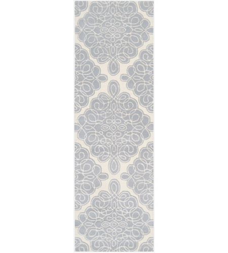 Surya CAN1957-268 Modern Classics 96 X 30 inch Blue and Neutral Runner, Wool photo