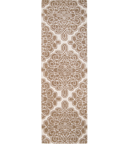 Surya CAN1964-268 Modern Classics 96 X 30 inch Brown and Neutral Runner, Wool photo