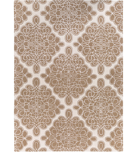 Surya CAN1964-811 Modern Classics 132 X 96 inch Brown and Neutral Area Rug, Wool photo