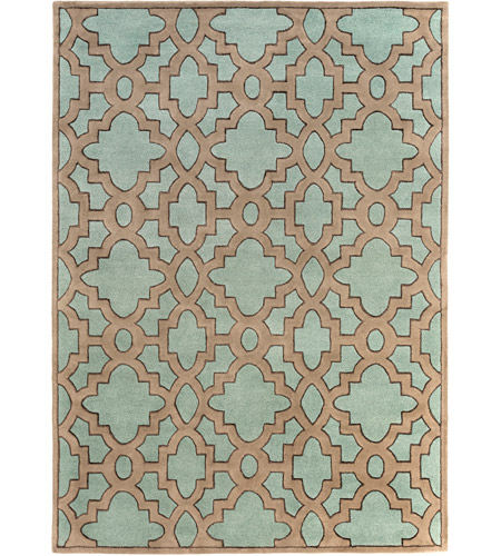 Surya CAN2034-811 Modern Classics 132 X 96 inch Blue and Neutral Area Rug, Wool photo