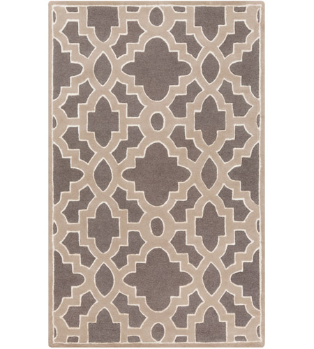 Surya CAN2037-58 Modern Classics 96 X 60 inch Medium Gray/Taupe/Ivory Rugs, Wool photo