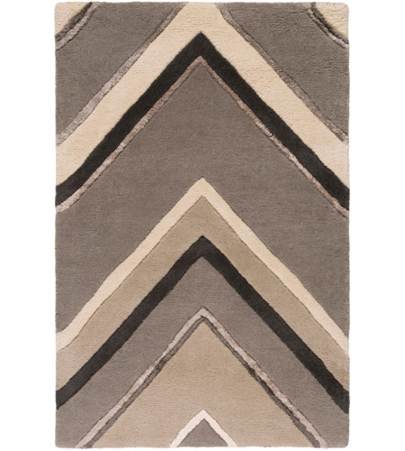 Surya CAN2059-23 Modern Classics 36 X 24 inch Gray and Neutral Area Rug, Wool photo