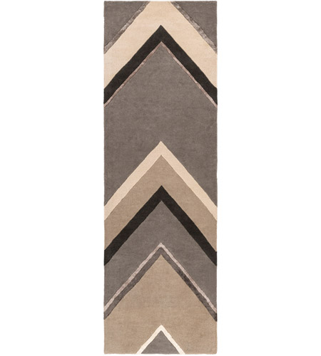Surya CAN2059-268 Modern Classics 96 X 30 inch Gray and Neutral Runner, Wool photo