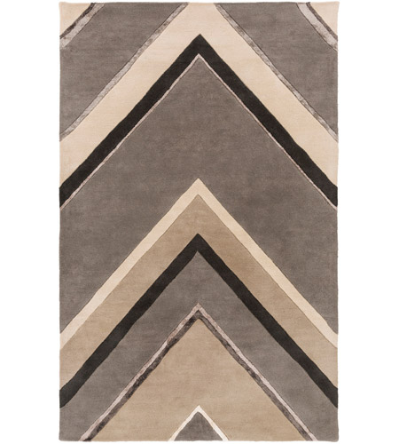 Surya CAN2059-3353 Modern Classics 63 X 39 inch Gray and Neutral Area Rug, Wool photo