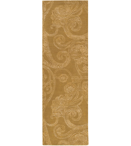 Surya CAN2077-268 Modern Classics 96 X 30 inch Brown and Neutral Runner, Wool and Viscose photo