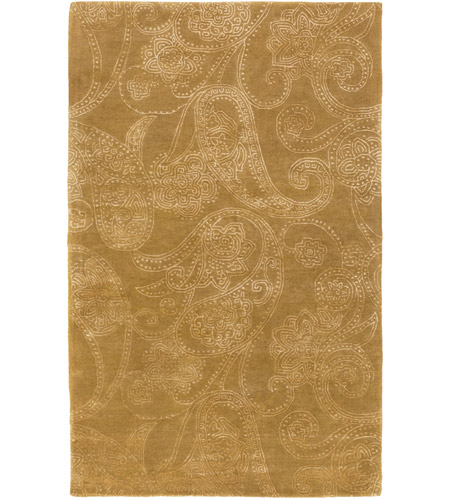 Surya CAN2077-23 Modern Classics 36 X 24 inch Brown and Neutral Area Rug, Wool and Viscose photo