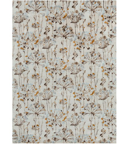 Surya CAN2081-811 Modern Classics 132 X 96 inch Neutral and Brown Area Rug, Viscose and Wool photo