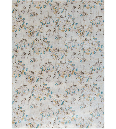 Surya CAN2082-811 Modern Classics 132 X 96 inch Neutral and Gray Area Rug, Viscose and Wool photo