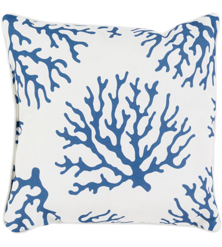Surya Co001 1616 Coral 16 X 16 Inch Navy And White Outdoor