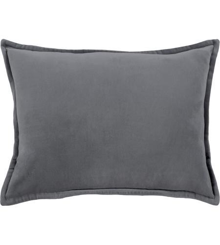 Surya Cv003 1319 Cotton Velvet 19 X 13 Inch Grey Pillow Cover Photo