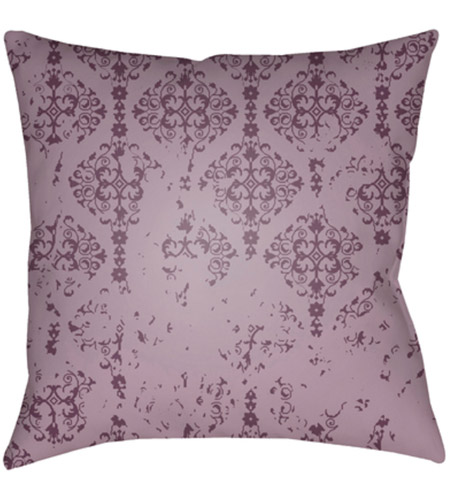 Surya DK008-2020 Moody Damask 20 X 20 inch Purple and Purple Outdoor Throw Pillow photo