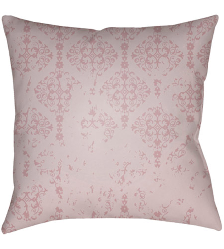Surya DK013-2020 Moody Damask 20 X 20 inch Pink and Purple Outdoor Throw Pillow photo