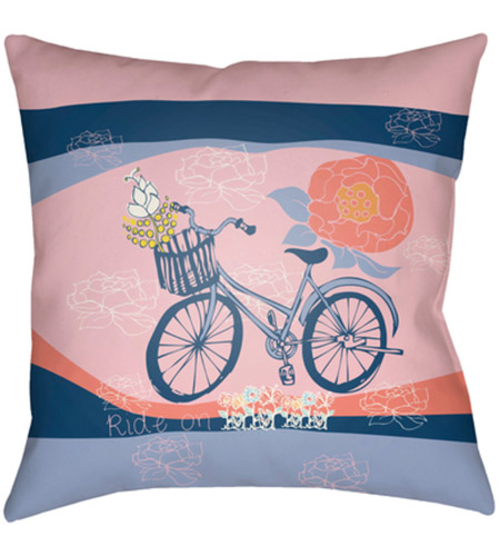 Yellow Outdoor Throw Pillows.Surya Do005 1818 Doodle 18 X 18 Inch Pink And Yellow Outdoor Throw Pillow