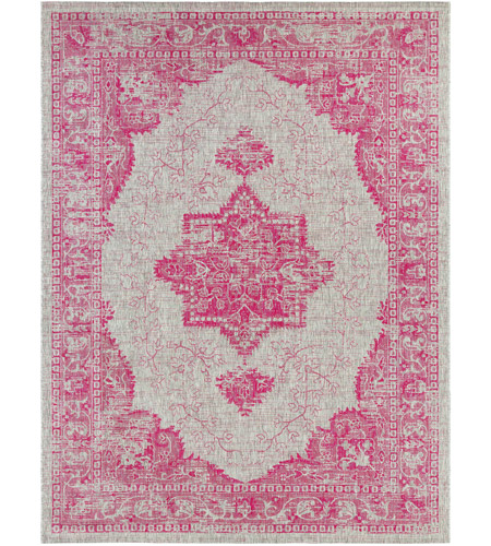 Surya EAG2305-710103 Eagean 123 X 94 inch Bright Pink Outdoor Area Rug, Rectangle photo