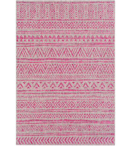 Surya EAG2308-23 Eagean 36 X 24 inch Bright Pink Outdoor Area Rug, Rectangle photo