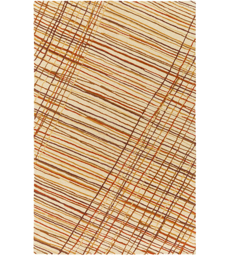 Surya EGF1000-576 Flying Colors 90 X 60 inch Neutral and Brown Area Rug, Wool photo