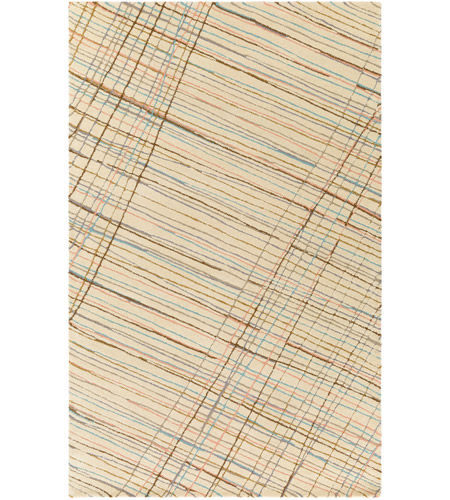 Surya EGF1001-23 Flying Colors 36 X 24 inch Neutral and Gray Area Rug, Wool photo