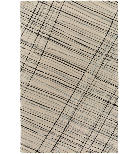 Surya EGF1002-23 Flying Colors 36 X 24 inch Gray and Black Area Rug, Wool photo