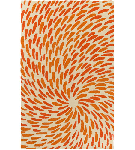 Surya EGF1005-576 Flying Colors 90 X 60 inch Neutral and Orange Area Rug, Wool photo