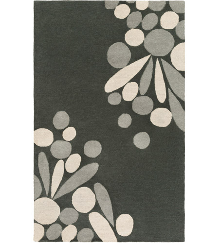 Surya EGF1007-576 Flying Colors 90 X 60 inch Gray and Gray Area Rug, Wool photo