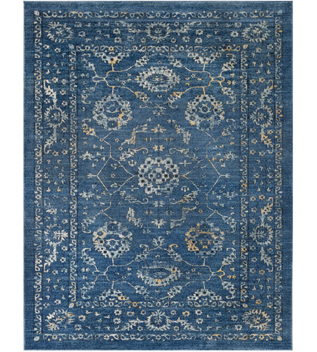 Surya EIS1000-710103 Elise 123 X 94 inch Blue and Blue Area Rug,  Polypropylene