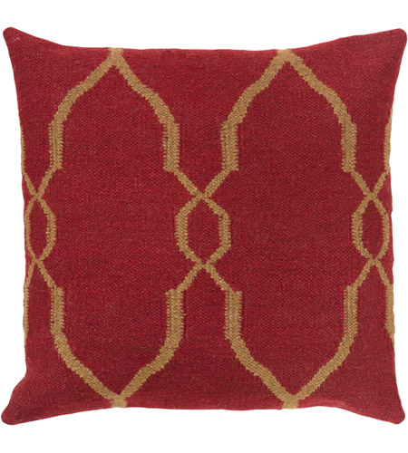 Surya FA019-2222 Fallon 22 X 22 inch Red and Brown Pillow Cover photo