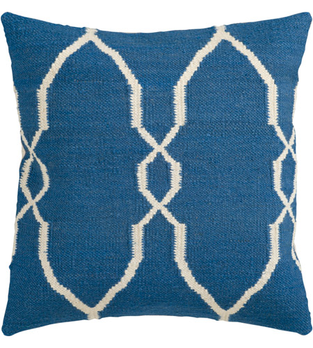Surya FA021-2222 Fallon 22 X 22 inch Navy and Off-White Pillow Cover photo