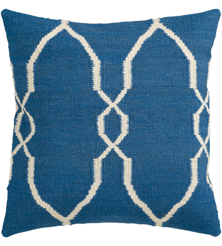 Surya FA021-2222D Fallon 22 X 22 inch Dark Blue and Cream Throw Pillow photo