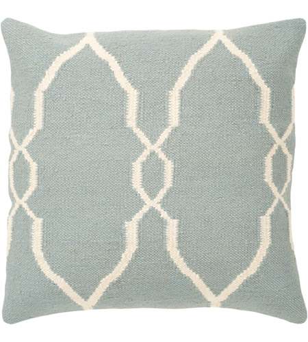 Surya FA022-2222 Fallon 22 X 22 inch Blue and Off-White Pillow Cover photo