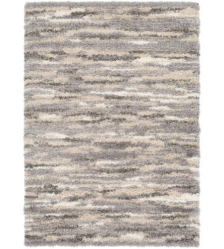 Surya FAF1002-23 Fanfare 36 X 24 inch Gray and Brown Area Rug, Polyester and Polypropylene photo