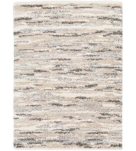 Surya FAF1003-23 Fanfare 36 X 24 inch Gray and Neutral Area Rug, Polyester and Polypropylene photo