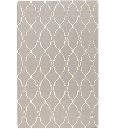 Surya FAL1003-58 Fallon 96 X 60 inch Neutral and Neutral Area Rug, Wool photo