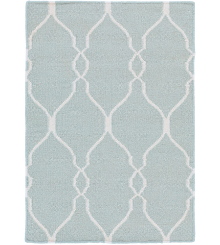 Surya FAL1005-23 Fallon 36 X 24 inch Blue and Neutral Area Rug, Wool photo
