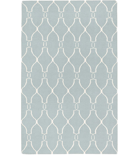 Surya FAL1005-3656 Fallon 66 X 42 inch Blue and Neutral Area Rug, Wool photo