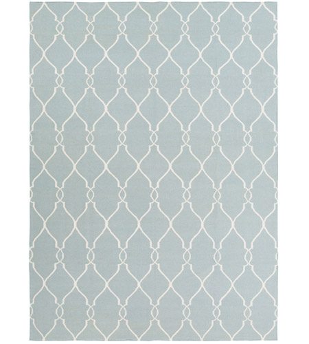 Surya FAL1005-811 Fallon 132 X 96 inch Blue and Neutral Area Rug, Wool photo
