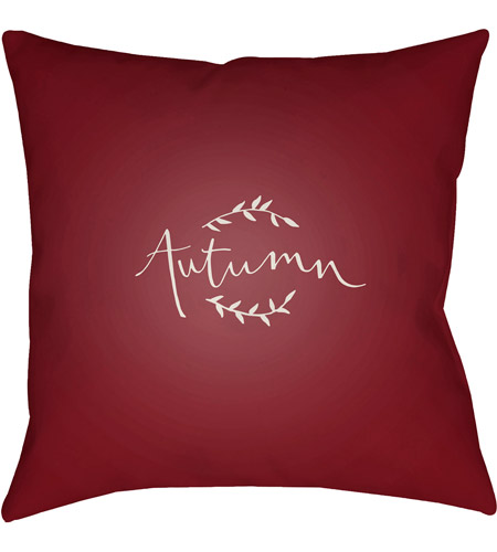 Surya FALL001-2020 Fall 20 X 20 inch Red and White Outdoor Throw Pillow photo