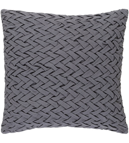Surya FC001-2020D Facade 20 X 20 inch Medium Gray Throw Pillow photo