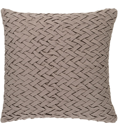 Surya FC002-2020D Facade 20 X 20 inch Taupe Throw Pillow photo