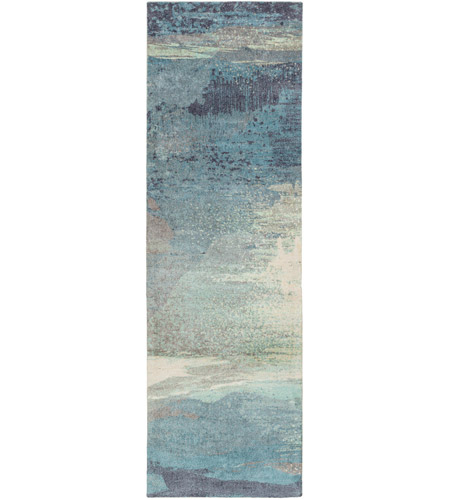 Surya FCT8000-268 Felicity 96 X 30 inch Blue and Blue Runner, Polyester photo