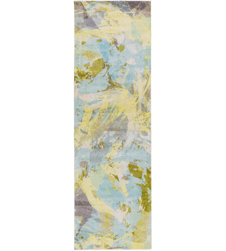 Surya FCT8001-268 Felicity 96 X 30 inch Blue and Green Runner, Polyester photo