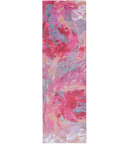 Surya FCT8002-268 Felicity 96 X 30 inch Pink and Purple Runner, Polyester photo